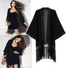 Womens Loose Casual Chiffon Top Kimono Coat Cape Blazer Jacket Outcoat Fashion