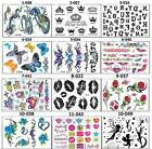 "NEW TEMPORARY TATTOOS ART STICKERS 3-30 ON 4.5""x6"" SHEET FOR KIDS ADULTS $4.99 USD"