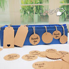 Blank Kraft Paper Hang Tags 100/200pcs Wedding Party Favor Label Gift Cards