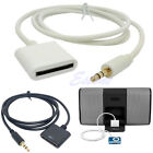 Stereo 3.5mm 30 Pin AUX Input Dock Connector Cable Adapter Fr iPhone 4 4S iPod