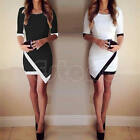 Sexy Women Ladies Asymmetric Bandage Bodycon Evening Cocktail Party Mini Dress