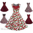 Maggie Tang 50s VTG Pinup Hepburn Rockabilly Floral Tulip Party Pencil Dress 562