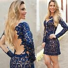 New Perspective Evening Dress Fashion Ladies Sexy Lace Hollow Backless Dresss