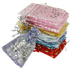 "20x 50x 100x Organza Jewelry Wedding Gift Pouch Bags 7x9cm 3X4"" Mix Color"