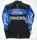 2015 Authentic Ford Truck Embroidered Cotton Jacket JH Design Black New