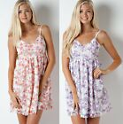 New Sexy Ladies Cocktail Party  Summer Flower Print Mini Spaghetti Strap Dress