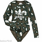 Adidas Originals Long Sleeve Stretch Camo Bodysuit New Body Top UK 6 10 12 14 16