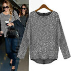 2015 Women  Loose Knitted Sweater Batwing Sleeve Tops Cardigan Outwear XS S M