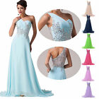 STOCK Long Chiffon Formal Evening Party Gown Prom Bridesmaid Wedding Debut Dress