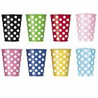 Polka Dots - 6 Paper CUPS {12oz} Spots Spotty Birthday Party Supplies