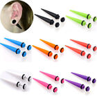 1 Pair Illusion Ear Fake Cheater Stretcher Rivet Taper Plug Tunnel Gauges 6/8MM