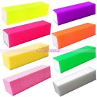 Rainbow Color Buffer Block Sanding File Nail Art Acrylic UV Gel Manicure Tools