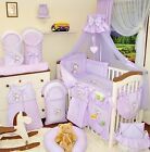 Huge bedding sets 9,11 or 21 Piece Baby Nursery Bedding Set To Fit Cot / Cot Bed