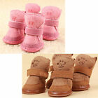 Warm Winter Pet Dog Boots Puppy Shoes 2 Colors For Small Dog + BL Hook