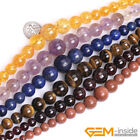 Natural Round Graduated Necklace Jewelry Making loose gemstone beads strand 15""