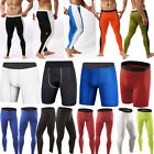 Men Compression Base Layer Tight Pants Shorts Under Skin Sport Gear GYM Wear New