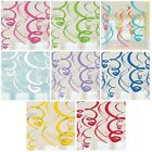 12 Plastic Swirls Decorations - 55.88cm {Amscan} (Party/Decoration/Birthday)