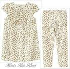 Gymboree Right Meow Velveteen Animal Print Dress and Leggings  18-24M, 2T