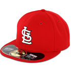 St Louis CARDINALS GAME Home Red New Era 59FIFTY Fitted Caps MLB On Field Hats