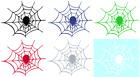 SPIDER IN WEB VINYL GRAPHIC CAR DECAL/STICKER - CHOICE OF 5 COLORS