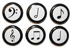 Mini 'Musical Notes' Fridge Magnets - Gift & Kitchen - High Quality - 25mm