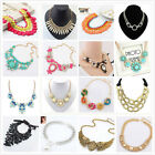 Fashion Women Crystal Chain Vintage Jewelry Choker Chunky Statement Bib Necklace