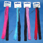 NEW 2pc SEXY LACE LOOK LONG BANDEUX HAIR ELASTICS HEAD BANDS HEADBANDS HAIRBANDS