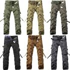Classic New Mens Casual Military Army Cargo Camo Combat Work Long Pants Trousers