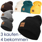 Urban Classics Leatherpatch Long Beanie Mütze Wintermütze Hat NEU«
