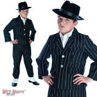BOYS LITTLE GANGSTER 1920'S PINSTRIPE SUIT FANCY DRESS COSTUME