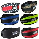 "Schiek Weight Lifting Belt 2006 6"" Neon Camo Black Red Blue"