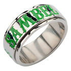 Sons of Anarchy SAMBEL Clover Stainless Steel Spinner Ring - sizes 6-12