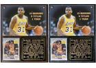 Magic Johnson #32 Los Angeles Lakers 5-Time NBA Champion Photo Card Plaque on eBay