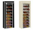 10 Tier Shoes Cabinet Standing Storage Organizer Shoe Rack Dust Proof Furniture