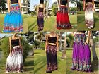 Long Maxi Skirt-Gypsy-Boho-Casual-Floral-Sandgirl-Mixed Colours
