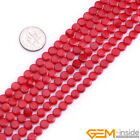 """Natural 6mm Coin Coral Gemstone Jewelry Making Beads Spacer Craft Strand 15"""""""