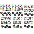 CHEVRON BIRTHDAY Age 3 Pack CONFETTIES 34g {Amscan} (Birthday/Party/Celebrate)