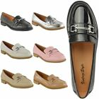 NEW LADIES WOMENS LOAFERS FLAT OFFICE WORK SCHOOL SMART FORMAL CASUAL SHOES SIZE