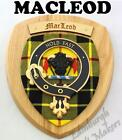 MACLEOD CLAN CREST WALL PLAQUE PLAQUES AVAILABLE IN ANY CLAN NAME