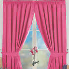 "3"" TAPETOP PINK BLACKOUT/THERMAL CURTAINS.Next Day Delivery.choose from 3 sizes"