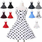 CHEAP DRESS BLACK BLUE RED 50's PINUP ROCKABILLY VINTAGE SWING PROM PARTY DRESS