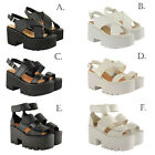 WOMENS LADIES CHUNKY SUMMER WEDGE ANKLE STRAP PLATFORM SANDALS SHOES SIZE NEW
