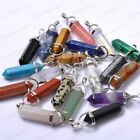 Wholesale Natural Gemstones Hexagonal Pointed Reiki Chakra Pendant Beads Necklac