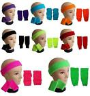 Childrens Kids Boys Girls Headband Wristband Legwarmers 80s Fancy Dress