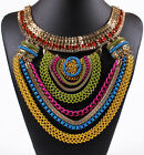 Fashion Geomorphic Charm Choker Chunky Bib Statement Choker Necklace Jewelry New
