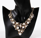 Fashion Lady Charm Pearl Crystal Choker Pendant Y neck Bib Necklace Jewelry new
