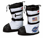 Astronaut Child Boots Nasa Space Boys Footwear White Career Logo Patch Halloween