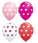 """6 Qualatex 11""""  Big Hearts Polka Dots Party Balloons 4+ Colours (Helium Quality)"""