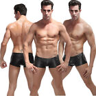 Fashion Sexy Mens Underwear Leather Boxer Shorts Trunks Short Pants Underpants