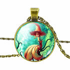 Vintage Style Ocean Mermaid Glass Dome Pendant Necklace Jewelry Gifts for Women